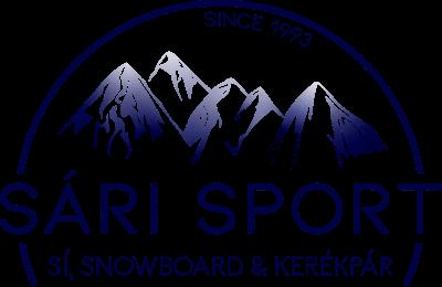Sári sport sí, snowboard, kerékpár logó